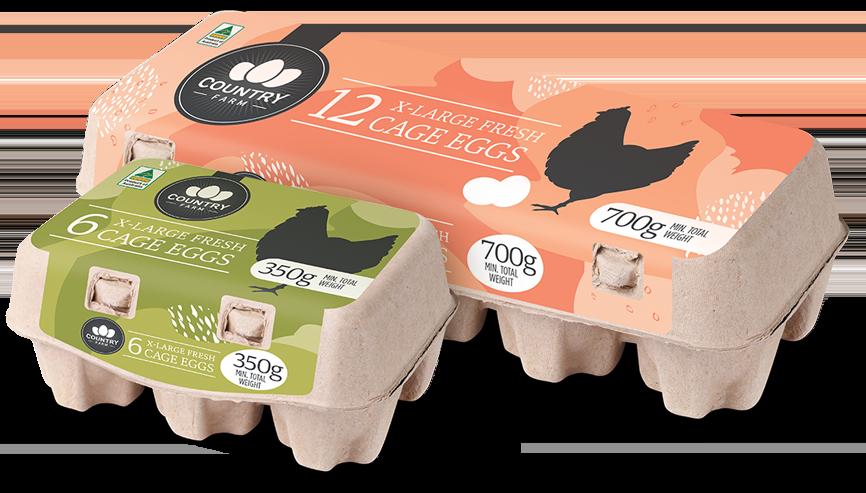 Image: Country Farms Cage Eggs Carton