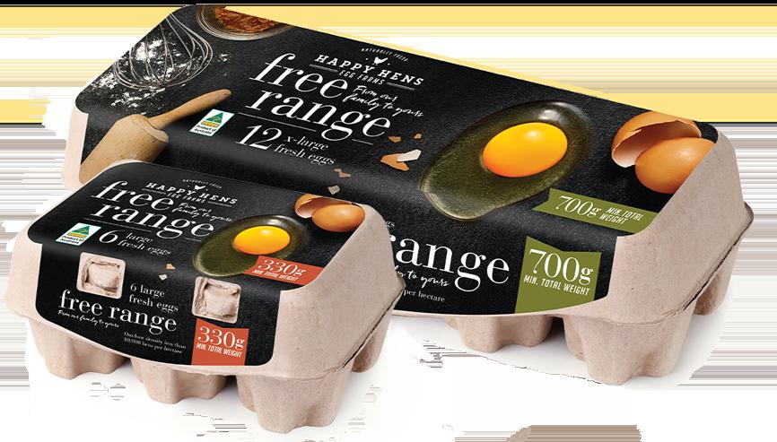 Image: Happy Hens Free Range eggs carton