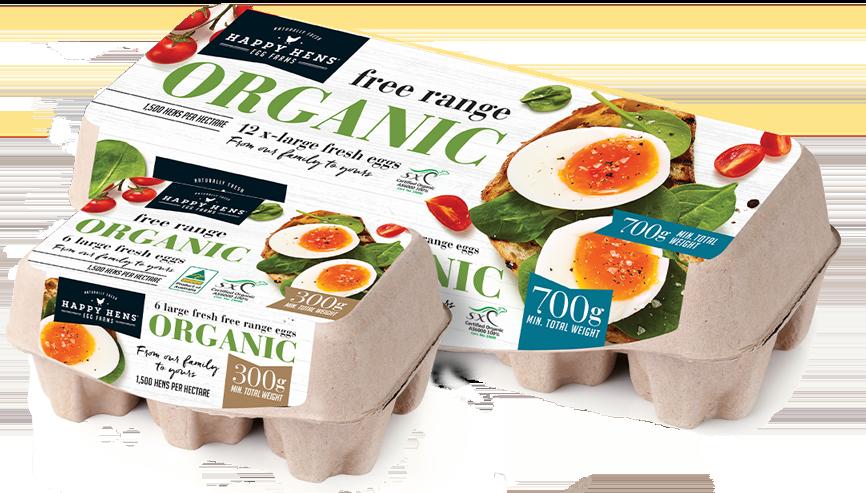 Image: Happy Hens Organic eggs carton